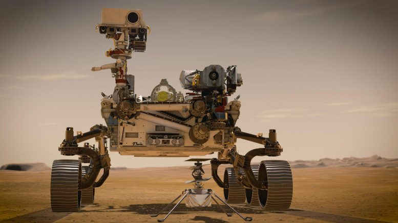 Mars 2020 Perseverance Rover and Ingenuity Mars Helicopter