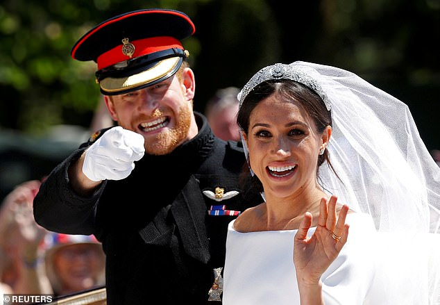 What is remarkable is that Harry's whole life and entire upbringing have been devoted and calibrated to him being a prince. Surely he understands how it works? Surely he could have explained the system to his vexed new bride? Harry and Meghan are pictured above on their wedding day