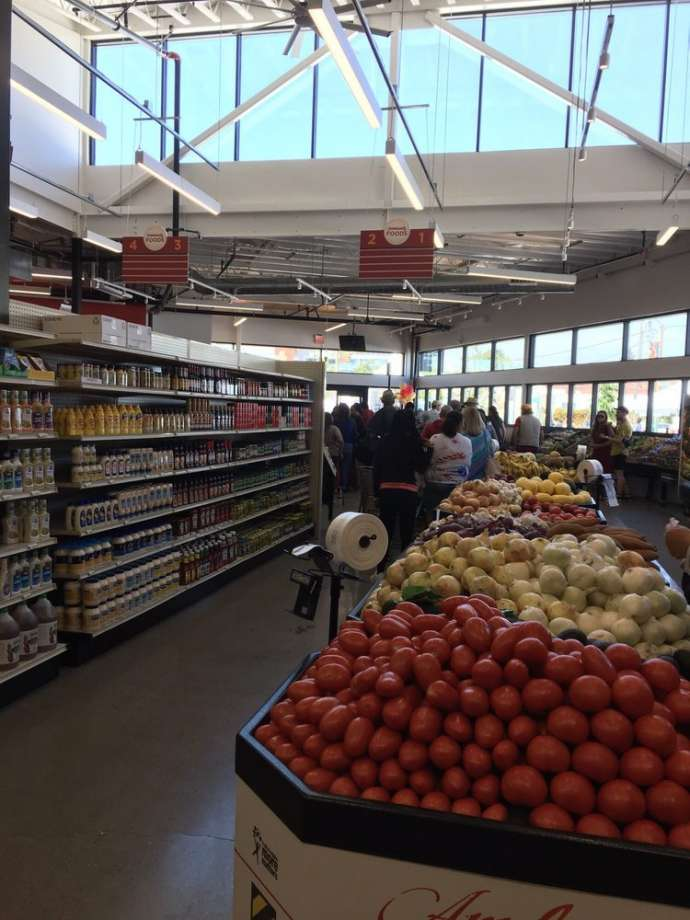Community Foods Market, the first full-service grocery store in West Oakland in over 40 years, opened on June 1, 2019. Photo: Munir A. Via Yelp