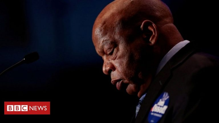 John Lewis: US presidents join tributes to civil rights icon