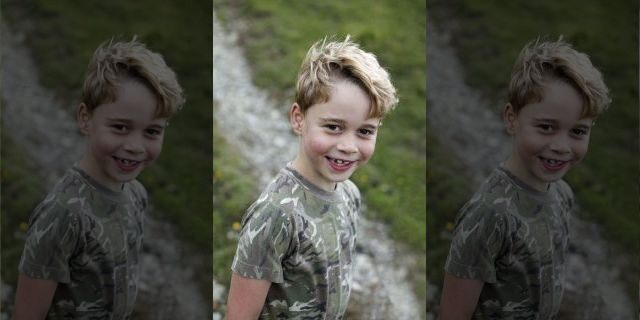 This undated handout photo provided by the Duke and Duchess of Cambridge on Tuesday, July 21, 2020 shows Britain's Prince George. Prince George turns 7 on Wednesday, July 22, 2020. (Duchess of Cambridge via AP)