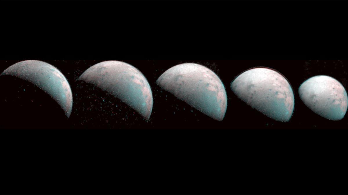 NASA Jupiter probe images huge moon Ganymede like never before (photos)