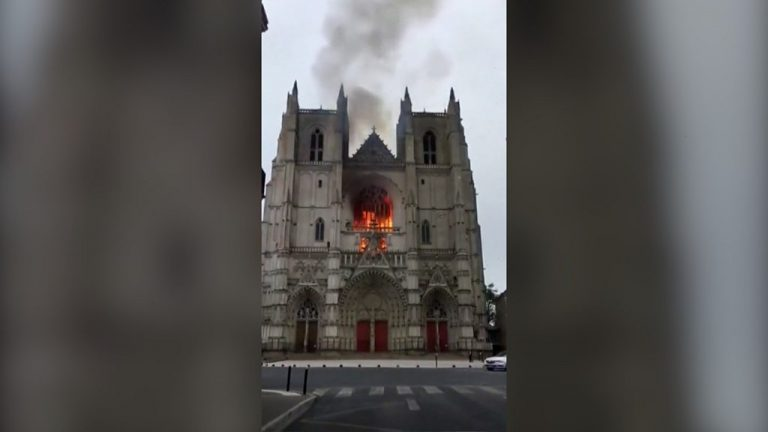 Nantes cathedral volunteer detained after fire