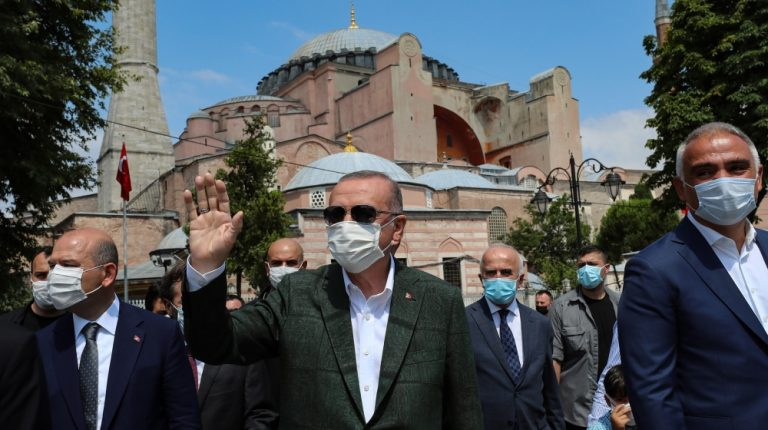 Turkey's Erdogan visits Hagia Sophia after reconversion to mosque | News